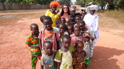 "Happy to go to school ""Invest in a Gambian Child"